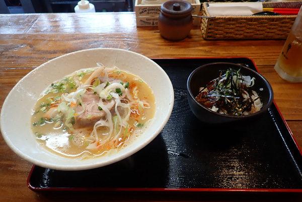 白湯そば&ミニイベリコ丼